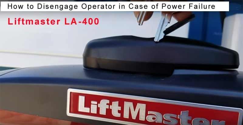 Liftmaster LA400 Gate Opener - During a Power Failure