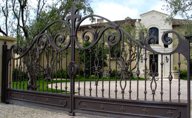 Custom iron gates in Beverly Hills